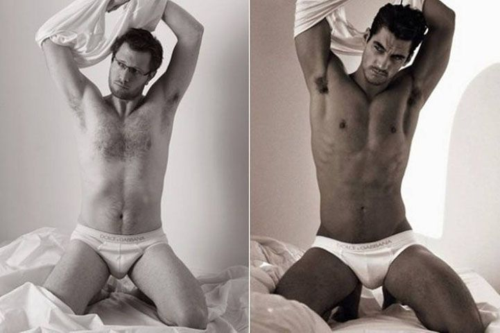 Real Men Pose Next to Famous Underwear Ads - My Modern Metropolis