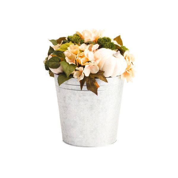 fake flower decor 15in faux floral arrangement in pot 25 liked on polyvore featuring home - Flowers For Home Decor