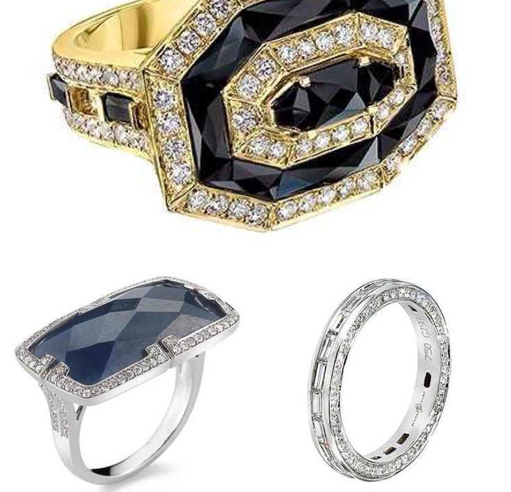 """@WWD Trend Report: """"Jewelers are showing their dark sides, using a range of black stones — onyx, spinel, diamonds and sapphires — to create a refined sense of drama and intrigue""""."""