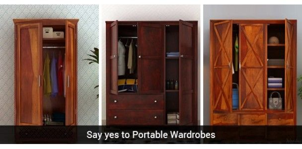 Still obsessed with the idea of built in cabinets? Read this blog and reveal what a portable wardrobe can offer you. #blog #wardrobe #furniture