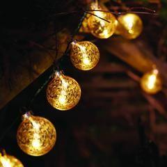 Stellar zlaté gule - reťazové svetlá - 10 ks