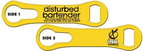 V-RODTM Bone Bottle Opener and Pour Spout Remover: Disturbed Bartender - Bar Tricks: Yellow by Ink Correct. $8.99. Bottle Opener & Pour Spout Remover  The revamped, sleek and multifunctional new version of the original Bartender's Bottle Opener, the V-RODTM Opener is the latest and greatest addition to our line of Killer Bartender Gear. The bone shaped design  features an ergonomic grip and an additional groove on the ring end that allows for the easy removal of ...