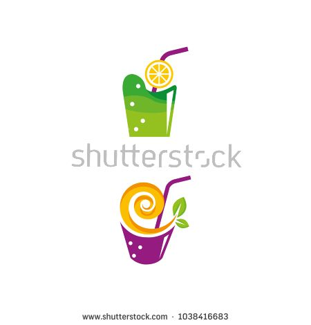 A set of juice icons