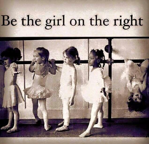 ~~Be the girl on the right.~~ Different is good! Be proud of yourself.
