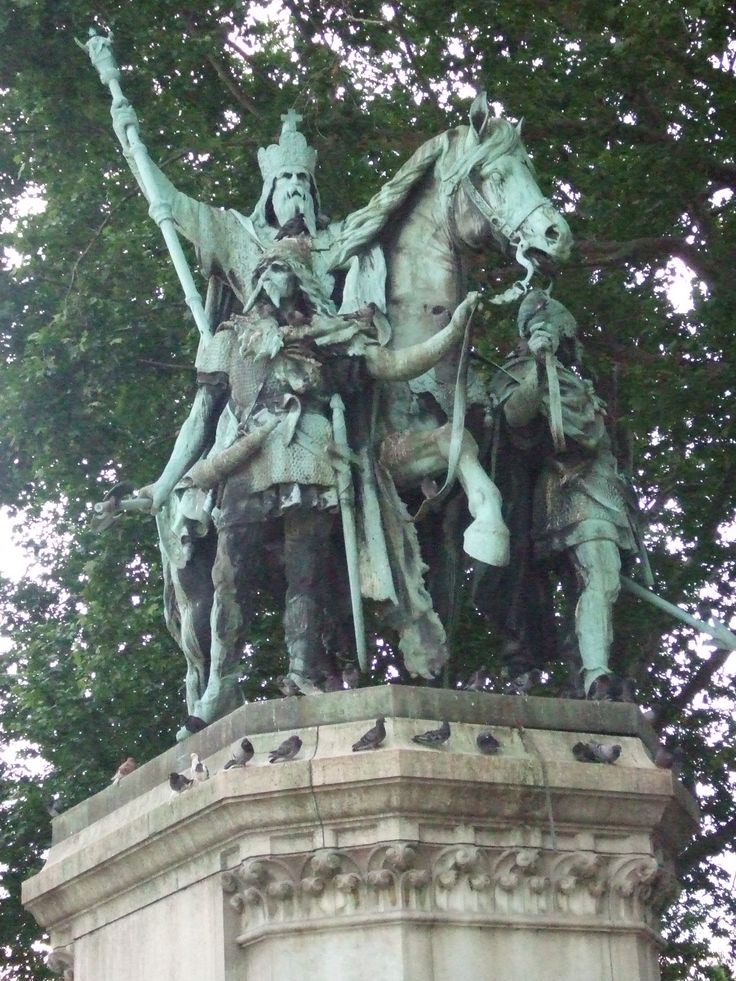 PARIS: Charlemagne, Frank King from 768-814. Conqueror who defined middle ages, western Europe, Renaissance.