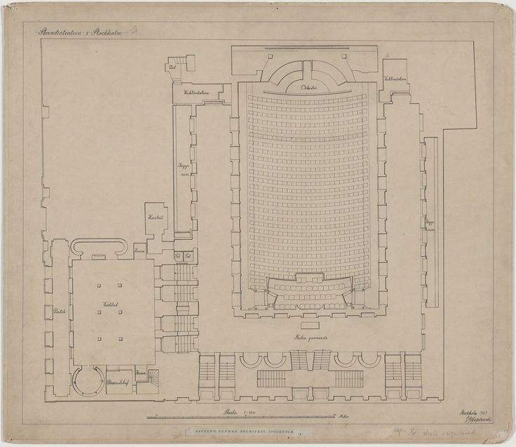 Erik Gunnar Asplund. Skandia Cinema, Stockholm, Sweden, Plan of ground floor. 1923