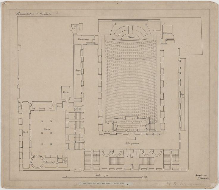 Erik Gunnar Asplund. Skandia Cinema, Stockholm, Sweden, Plan of ground floor. 1923