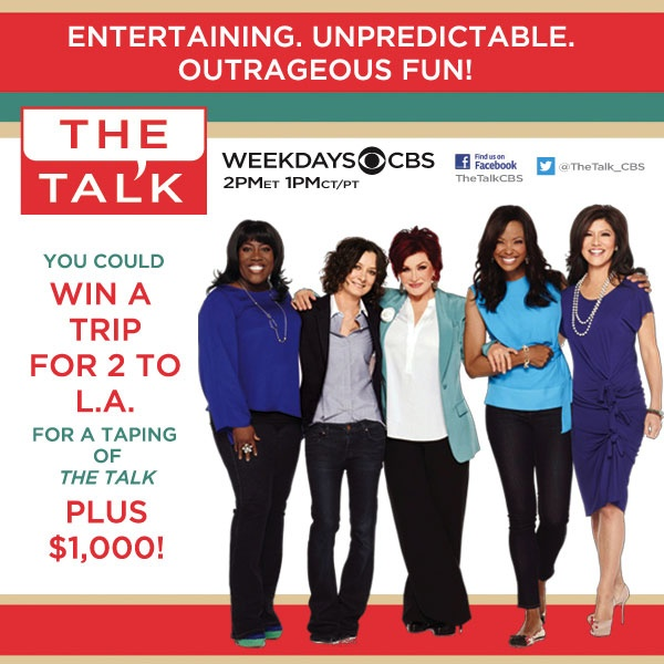 The Valpak Win a Trip to The Talk Sweepstakes