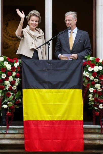 King Philippe and Queen Mathilde visit the Belgian province of Bruges 10/25/2013