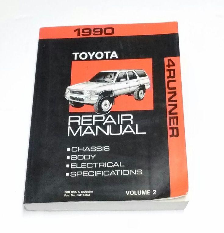 Dealership Service Repair Manual 1990 Toyota 4runner