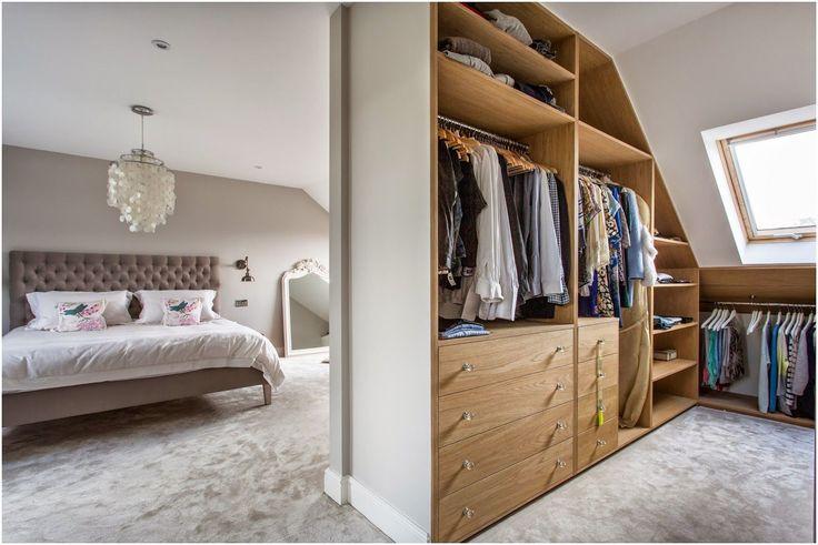 Little Miss Homes - Little Miss Homes - Bedroom Complete. London Bedroom, Loft Bedroom, Loft Extension, London Property, Walk In Wardrobe,  Farrow & Ball, Cornforth White.