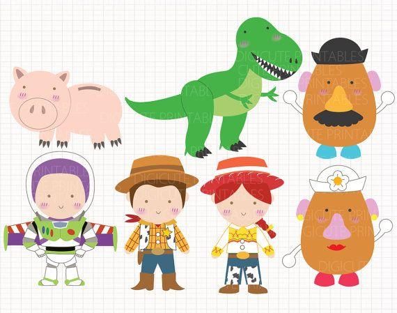 Disney inspirados juguete historia CLIP Artes digitales personales y comerciales utilizan para invitaciones, los primeros de la Magdalena, tarjetas de cumpleaños, fuentes del partido