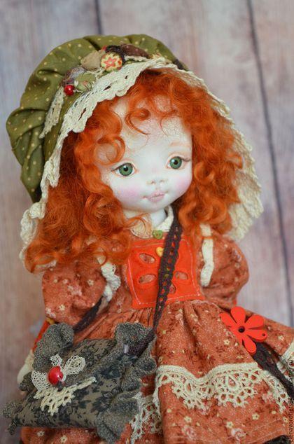 Купить или заказать Лилу в интернет-магазине на Ярмарке Мастеров. Куколка пошита из ткани, кукольный трикотаж, наполнитель холлофайбер Глазки из пластика. Волосики овечьи кудри, крашенные. Стоит Лилу самостоятельно.…