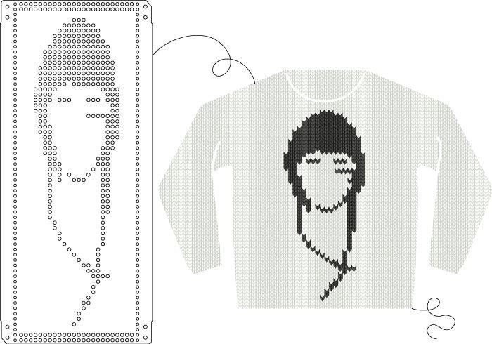 knitting machine punch card instructions