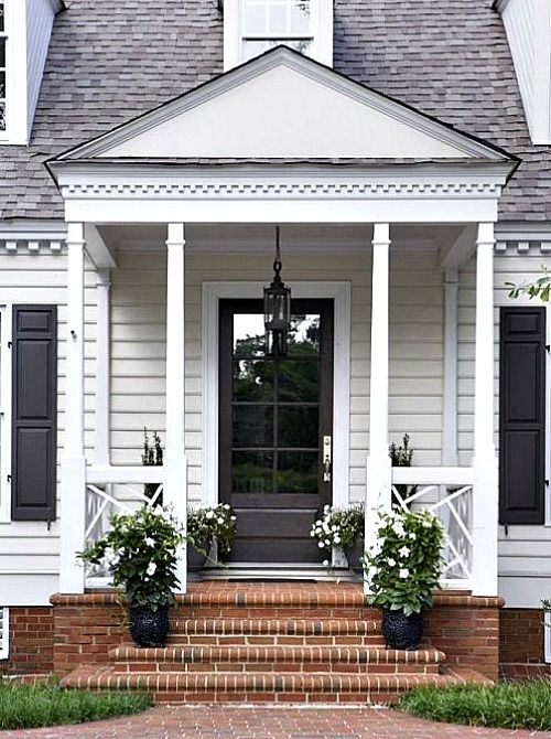 17 best ideas about front door plants on pinterest front for Small house front door ideas