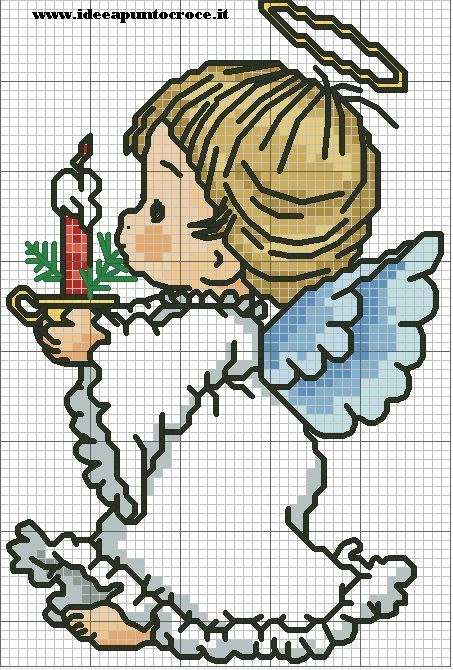 Cross stitch *♥* Point de croix  SCHEMA ANGELO NATALIZIO