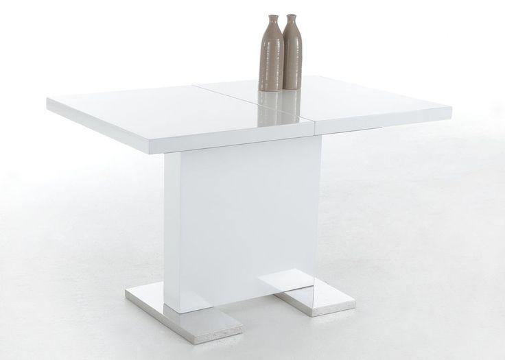 Esstisch Iris II Hochglanz Weiß lackiert 1196 Buy now at http - designer moebel weiss baxter