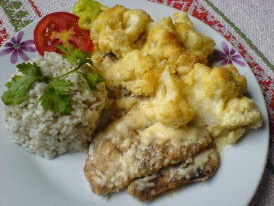 Paprikás krumpli: Csirkemell csőben sült karfiollal