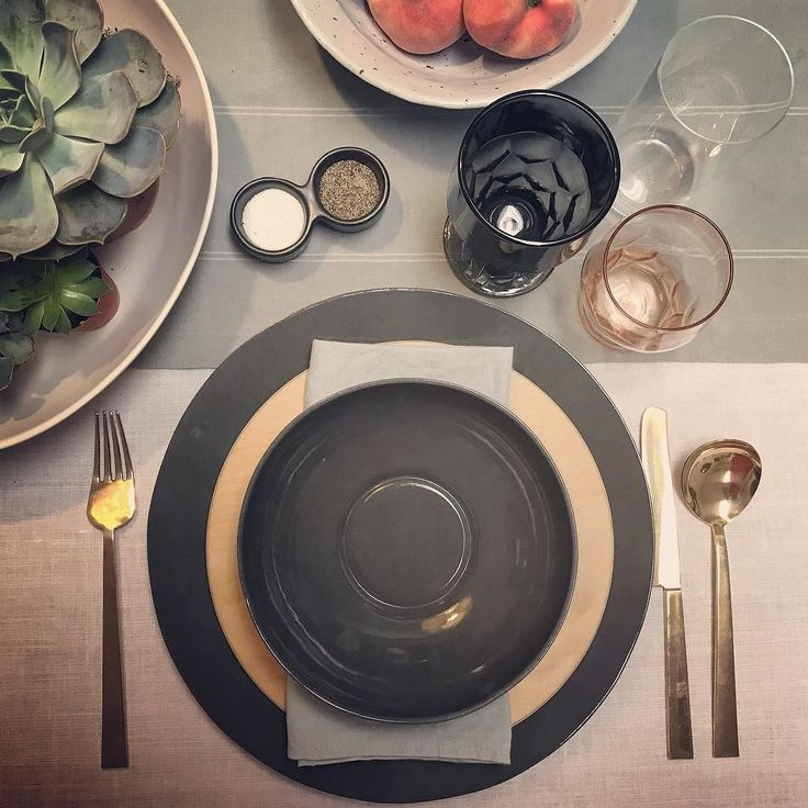 I love to #setthetable that is why I started FORK  ROSE. As a former #yachtstewardess and #butler that was always my favorite part of the job. I prefer simple and clean lines and always something to nibble on as decoration. This #greyscape #dinnerware from #edgewoodmade with a hint of #peach in a #vintageglass (and #peaches in a #bluepheasanttable #stoneware #bowl) for color the #succulents add a green as a #popofcolor and the #subtle #paleblue #linennapkin from #thelinenworks. I'm not…