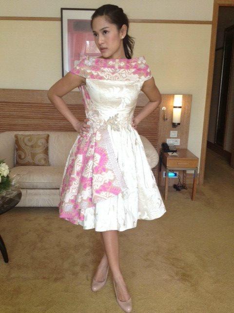 Dian Sastro In Sebastian Gunawan #Cannes2012