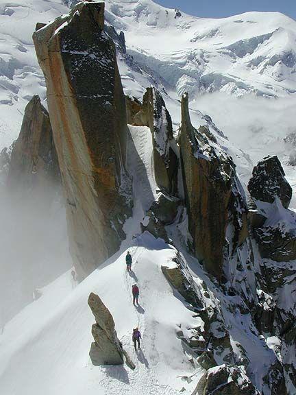 Cosmiques Arête, Aiguille du Midi, Chamonix Aiguilles, France