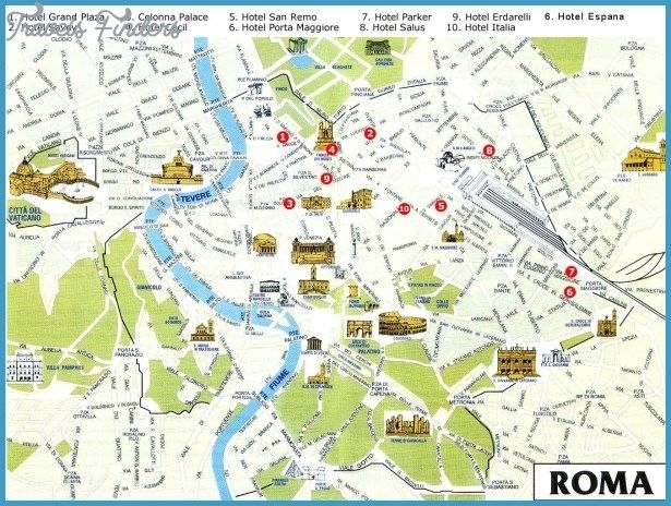Map Rome Tourist Tourist Map Of Rome map of rome tourist attractions haxballco 615