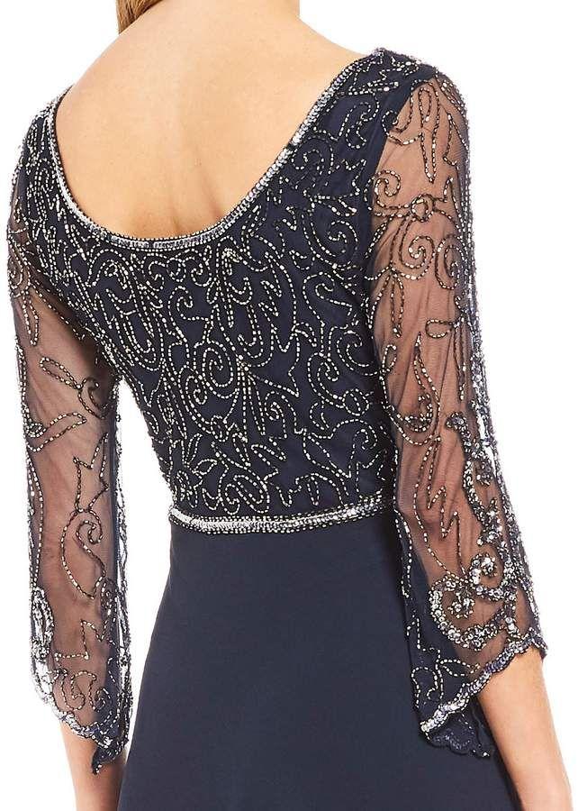 63d55e27bf J Kara Scoop Back Sequin Bodice Gown  Scoop Kara Sequin