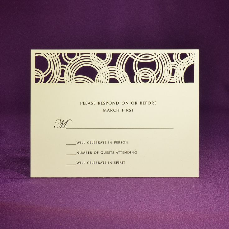 proper response time for wedding rsvp%0A Eternal Rings RSVP Card A   Offset Printed