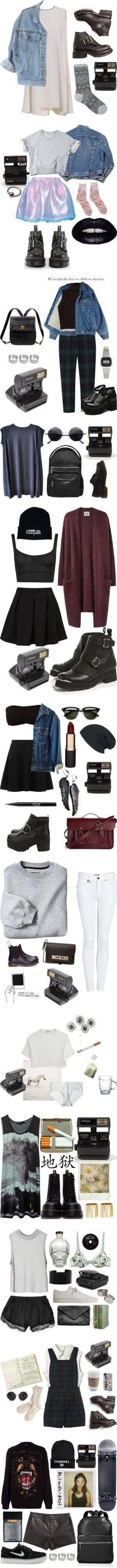 """""""Shootfits"""" by froufrouu ❤ liked on Polyvore I want everything.... Pity I'm not cool enough to pull any of them off! :/"""