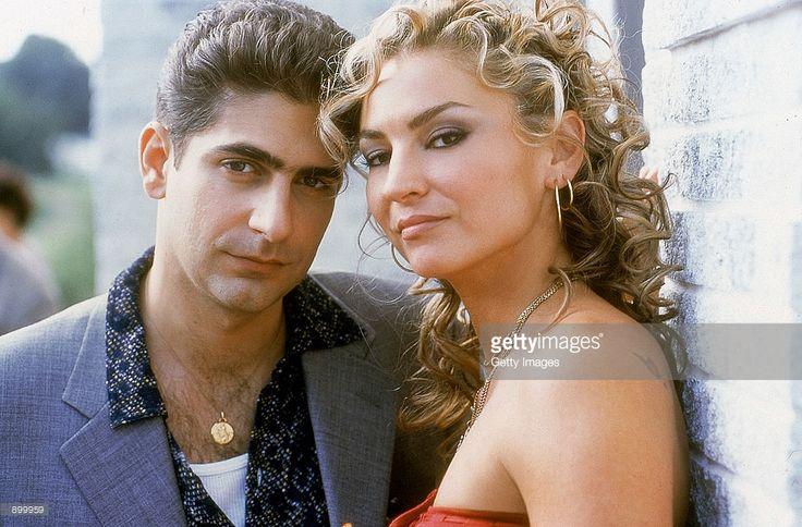 Michael Imperioli as Christopher Moltisanti and Drea de Matteo as Adriana La Cerva star in HBO's hit television series, 'The Sopranos' (Year 3).