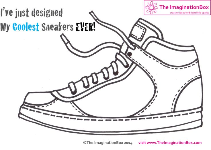 Imagine running around in your own designer sneakers! Free pdf download, explore colour, shape, graphic design