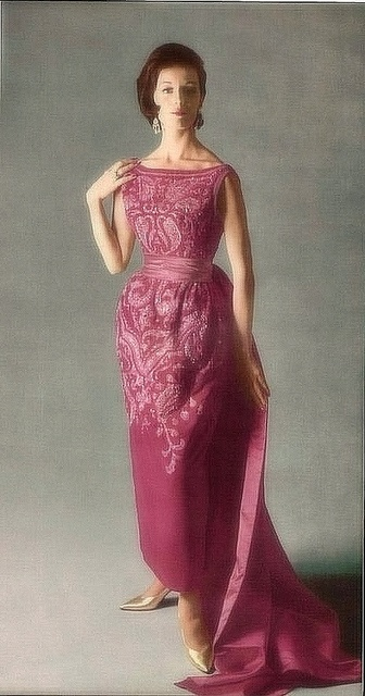 """1960"" by dovima2010 (Kristine - No longer upload...) | Designer Pierre Balmaine | April 26, 2012"