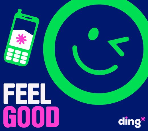 The feeling you get when you use the ding* mobile app to send a mobile top-up OR when someone sends you one  ding* someone today - https://www.ding.com/mobile-apps