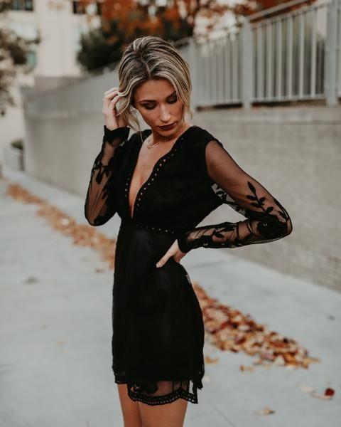 Trysta Lace Dress - Black 13