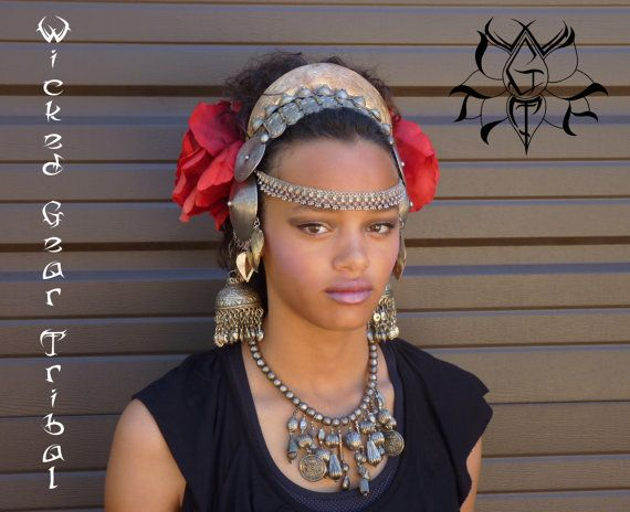 PLEASE READ ENTIRE DESCRIPTION BEFORE PURCHASING - This headdress fits a bit differently, and is a little more unique than most of my pieces.