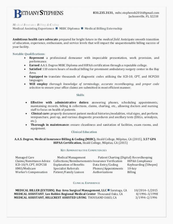 27 Medical Assistant Objective For Resume Pick A Resume Template