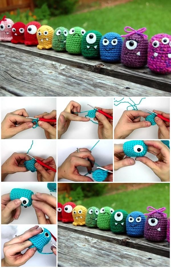 How to Make Crochet Amigurumi Baby Monsters