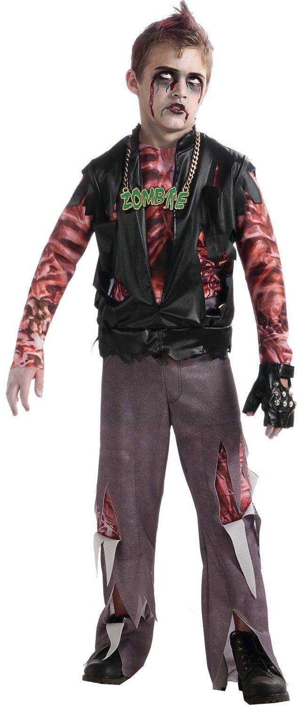 Boys Zombie Punk Rocker Kids Costume Zombie Costumes - Mr. Costumes | Costumes u0026 Make up ...