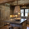Kitchens .com - Rustic Kitchen Photos - Island with Distressed Zinc Counter