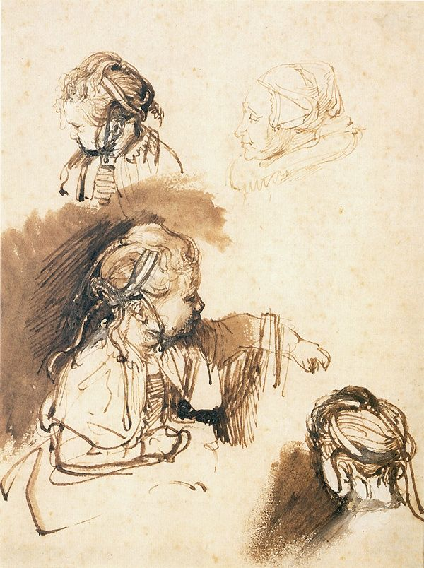 # Rembrandt's drawings are some of the best and well worth studying.