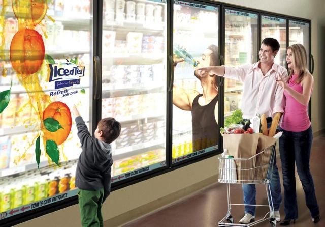 LG transparent LCD Sreens to make big fridges modern and interactive