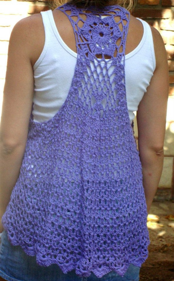 Crochet Vest ...want one in every color!!!