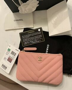 5fd3ad2a569f New-Authentic-Chanel-19S-Light-Pink-Chevron-Mini-O-Case-Small -Cosmetic-Bag-Pouch