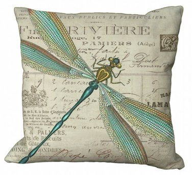 Dragon Fly Canvas Pillow