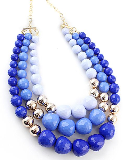Shop Blue Ombre Bead Necklace online. Sheinside offers Blue Ombre Bead Necklace & more to fit your fashionable needs.