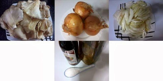 Receitas de cozinha: Cogumelos assados com cebola