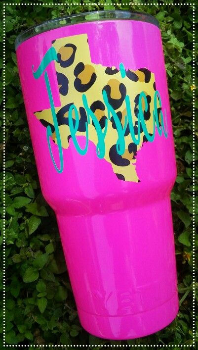 https://www.facebook.com/groups/1105640999465934/  Hot Pink Glitter Powder Coated Leopard Texas Yeti