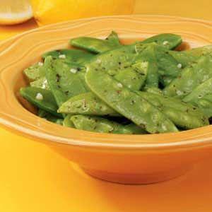 Lemon Butter Snow Peas Recipe, seems like a great side dish