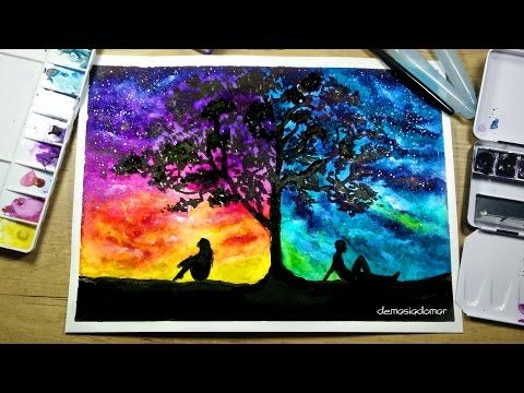 Two Different Worlds – Speed Painting [Watercolor …
