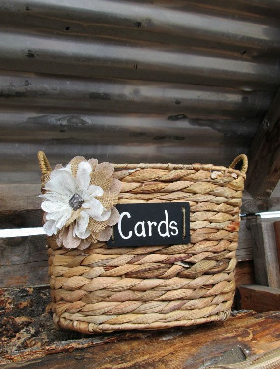 Wedding Card Basket  Rustic Wedding Card by MyMontanaHomestead